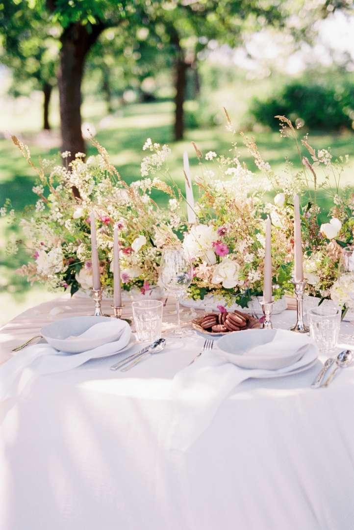 Dekorácia svadobného stola