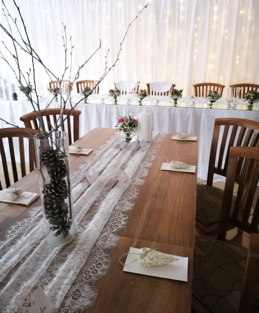 Zimná svadobná výzdoba očami Special Bridesmaids.
