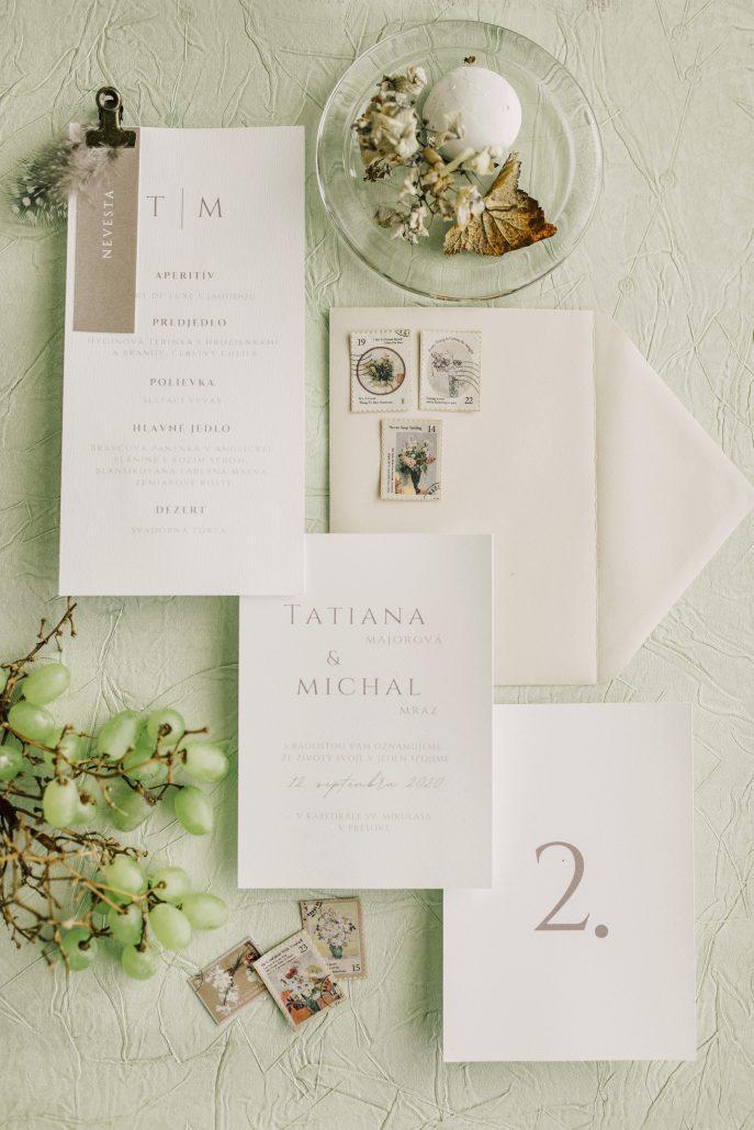 Minimalistické svadobné oznámenia od Elami dizajn.