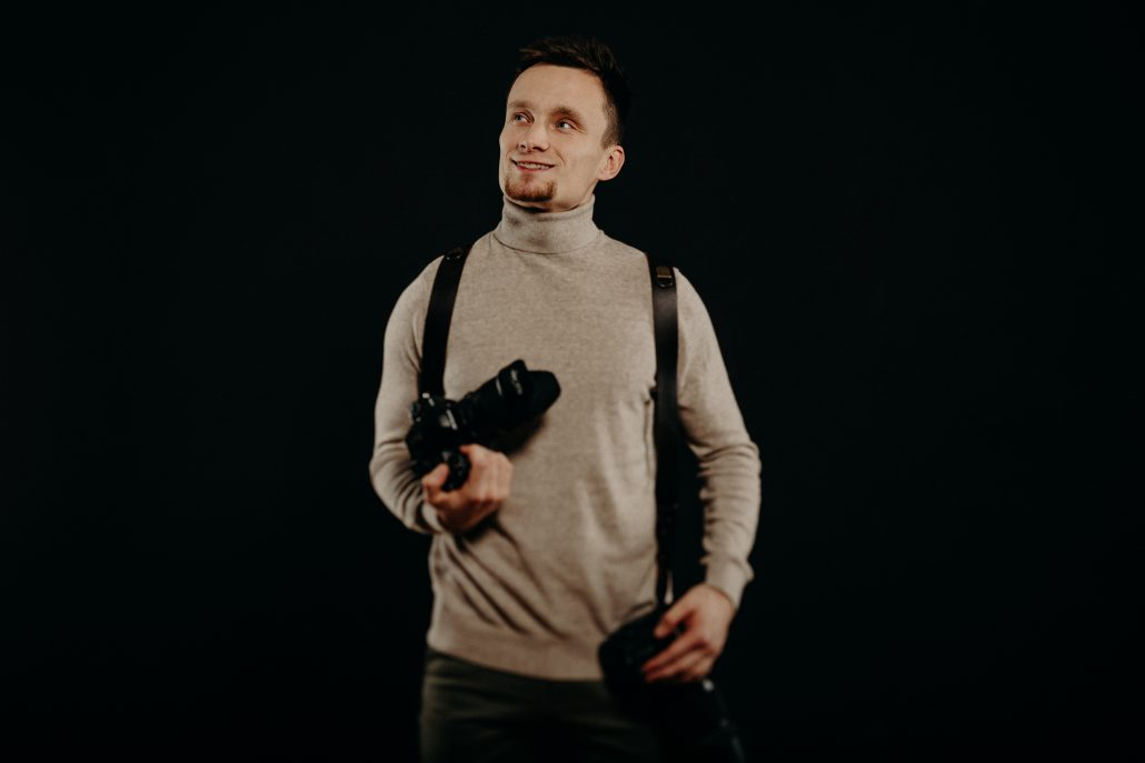 Tvár fotografa Michal Wagner, portrét.