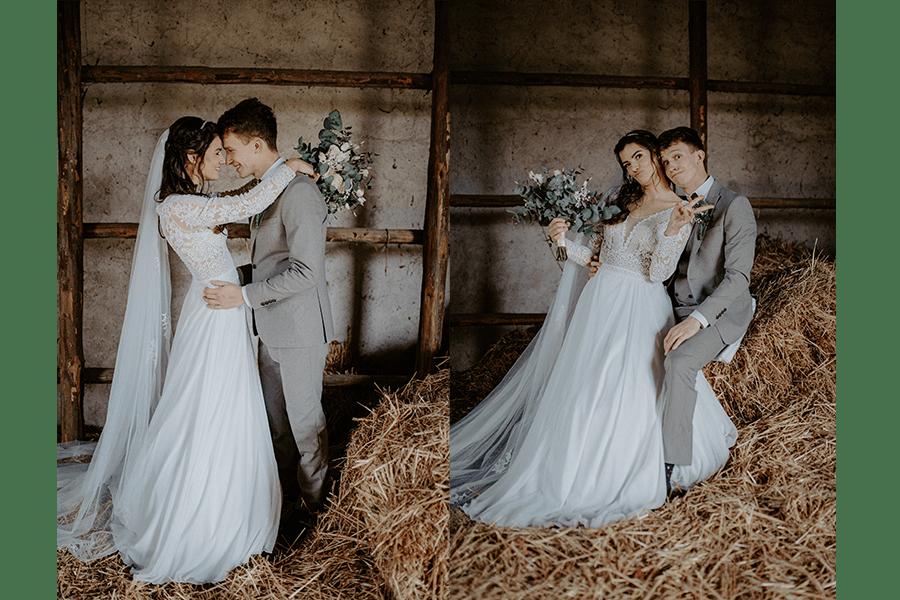 fotografia zo svadby v retro stodole