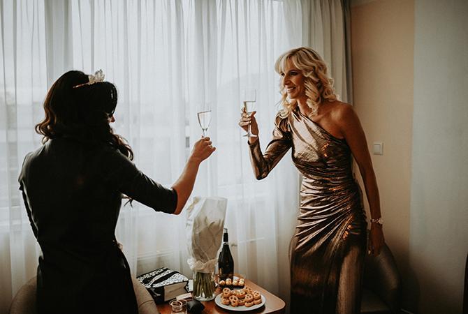 nevesta so šampanským