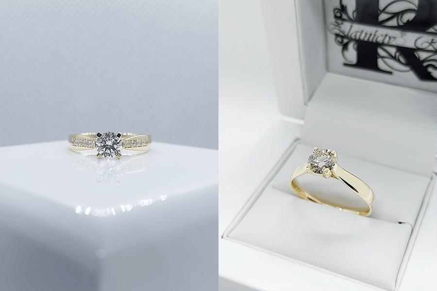 snubné prstene s kameňom zlaté - zlatníctvo Riči