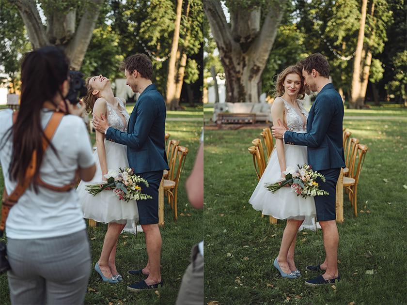 fotenie nevesty a ženícha - malá svadba