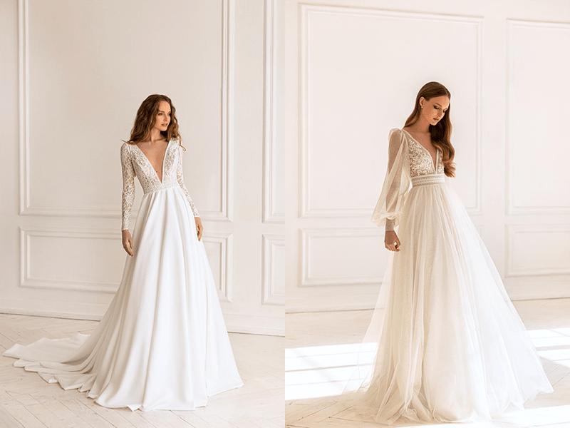svadobné šaty s rukávmi - Svadobný salón La Mariée