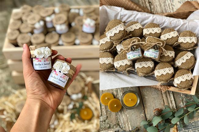 darčeky pre hostí v podobe mini medíku od Zlatý nektár
