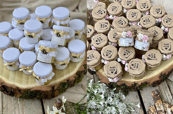 zlatý nektár - darčeky pre hostí - mini medíky