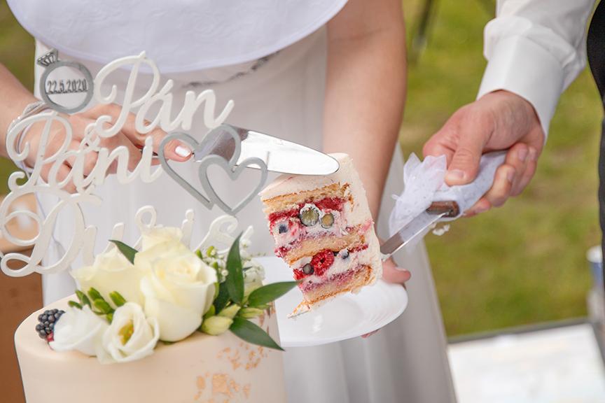 víkendové mlsanie svadobná torta