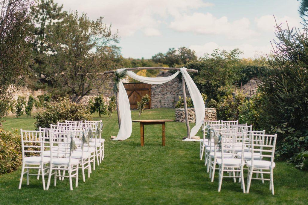 Výzdoba záhradnej svadby Edin Agency